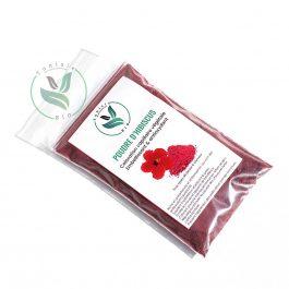 Poudre d'hibiscus, coloration capillaire végétale